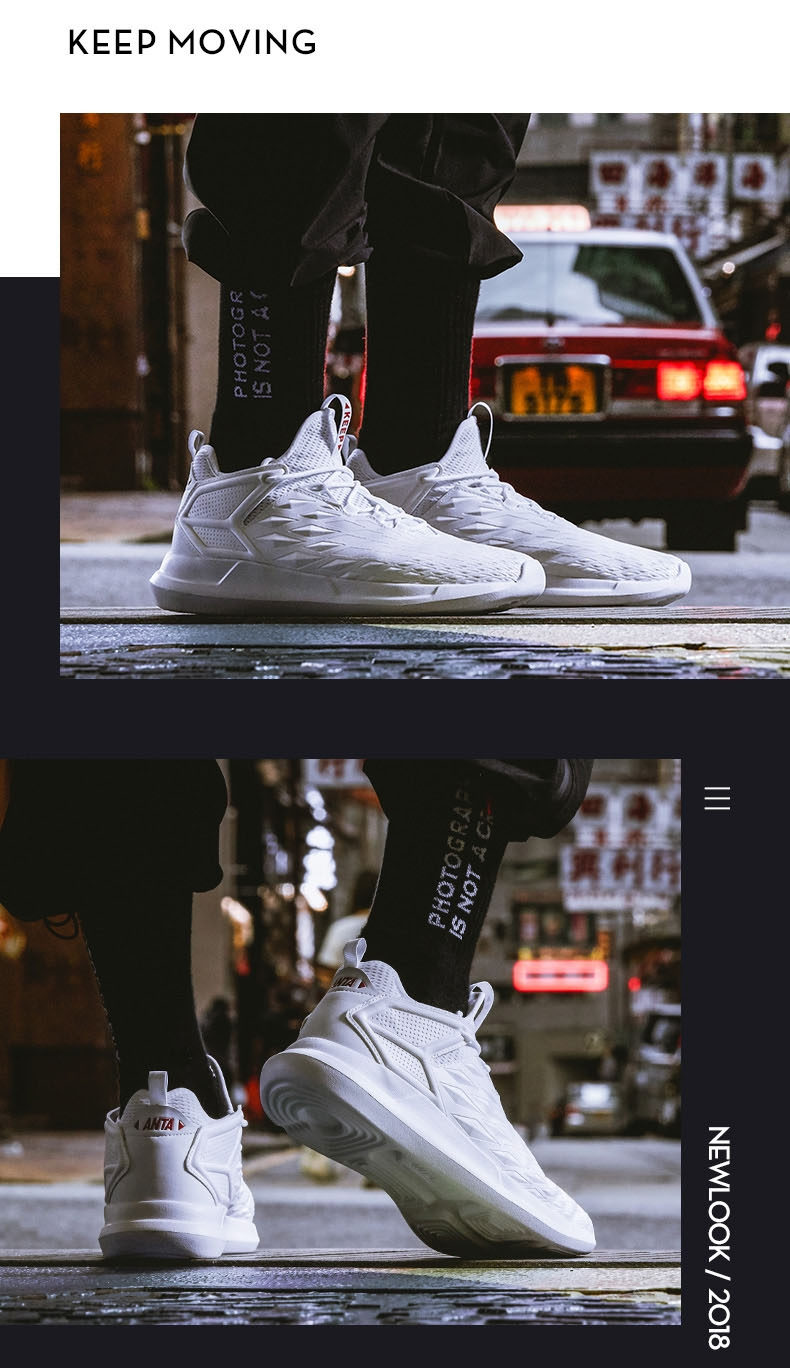 Anta Mens 2018 Autumn Fashion lifestyle sneakers light casual shoes