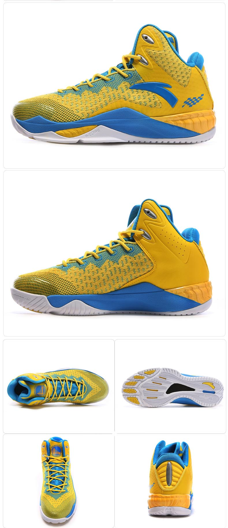 Anta NBA Golden State Warriors 2016 Spring Basketball Shoes
